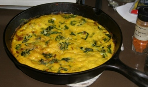 Bacon and Baby Green Frittata