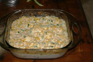 Corn and cheese casserole small