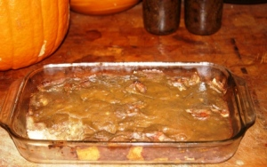 White Chocolate Persimmon Pudding
